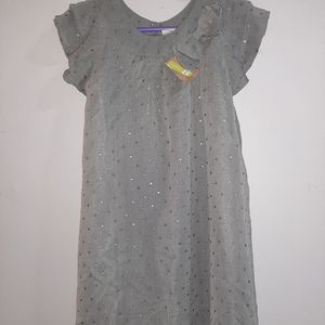 NWT Crazy 8 Gray Party Dress Girls 5 6 Sparkly NEW